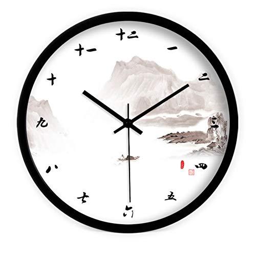 DW HCKK M&T Single Wall Clock/Objekte der Dekoration der Landschaft und Moderne Chinesische Alarm Uhren Wecker Uhren-Lounge/die Montage eines Zolls 12 Schnitt