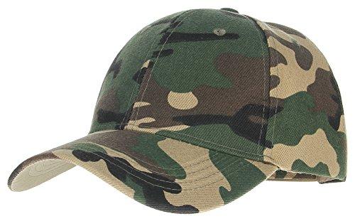 GEMVIE Baseball Kappe Snapback Cap Militär Tarnfarbe