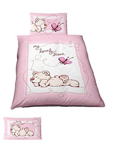 Träumschön NICI Baby Bettwäsche 100x135 cm - 40x60 cm | 2 teiliges Bettwäsche-Set aus 100% Baumwolle | Besonders atmungsaktiv | Renforce, besonders geeignet für warme Tage
