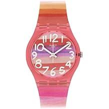 Swatch Astilbe - Reloj Analógico de Cuarzo para Mujer, correa de Plástico color Multicolor