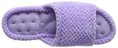 Isotoner Popcorn Open Toe Slippers, Chaussons Mules Femme Purple (Lavender)