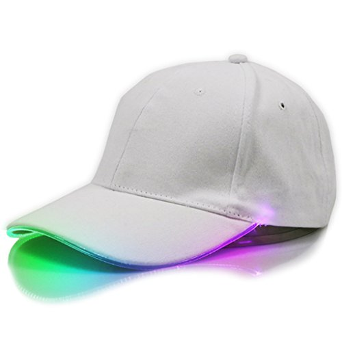 kocome verstellbar LED-beleuchteten Sports Hüte Glow Club Party Baseball Hip-Hop Golf Gap, bunt - Golf-themen-licht-set