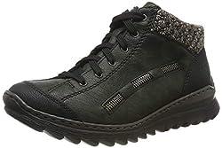 Rieker Damen M6223 Hohe Sneaker, Schwarz (Black combination), 39 EU