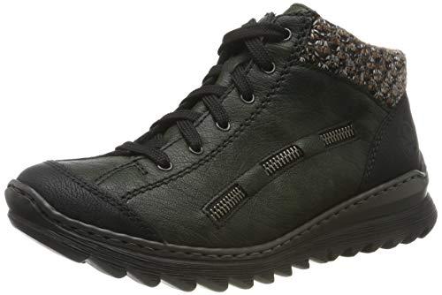 Rieker Damen M6223 Hohe Sneaker, Schwarz (Schwarz/Forest/Terra 00), 41 EU