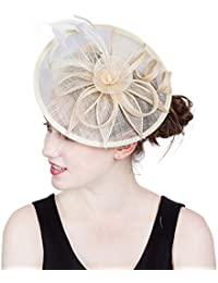 Vintage Ronda Novia Sombreros De Lino De Las Mujeres De Plumas Ronda Bowler  Hat Accesorios para fb4f0fa68c0