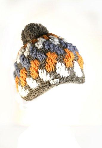 Kohle-fleece-mütze (Chaos Mützen Damen Brooklynn Hand Knit Beanie, damen, grau / orange)