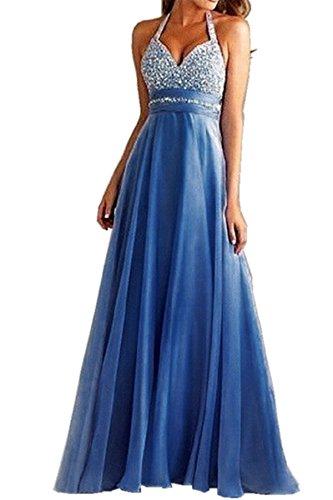 Außergewöhnliche YOGLY Elegant Pailletten Neckholder ALinie Vintage Damen Kleid  YK35