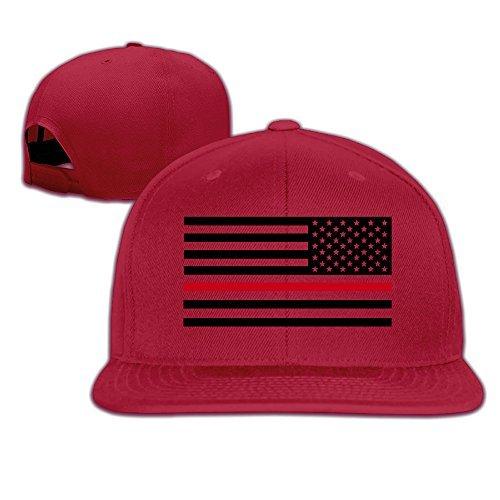 9d1062d81d4 Thin Red Line Flag Firefighter Hipster Snapback Baseball Cap Flatted Brim  Hat.