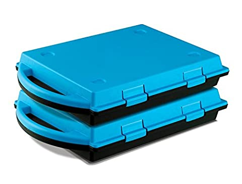 Two Gratnells SmartCases - Pack of 2 handy plastic storage carry cases with foam inserts that you can customise. Ideal for Raspberry Pi or Warhammer figures (Blue and black)
