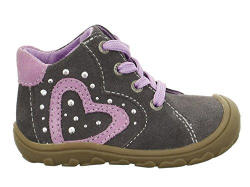 Lurchi  33-14518-25, Chaussures premiers pas pour bébé (fille) Anthracite