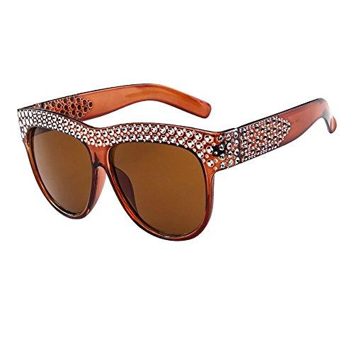 Auifor ☀Frauen Männer Vintage Retro Brille Unisex Fashion Patchwork Big Frame Sonnenbrille