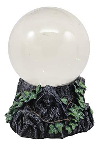 Ebros Keltischer Heiliger Mond Dreifachgöttin Mutter Maiden Crone Scrying Glas Gazing Ball Figur 20,3 cm H Wicca Wicca Heilige Dreifaltigkeit Dekoration Halloween Macabre Skulptur Deko
