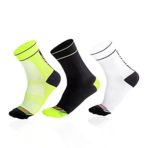 3 Pairs of Breathable Hiking Socks - Outdoor Lightweight Trekking