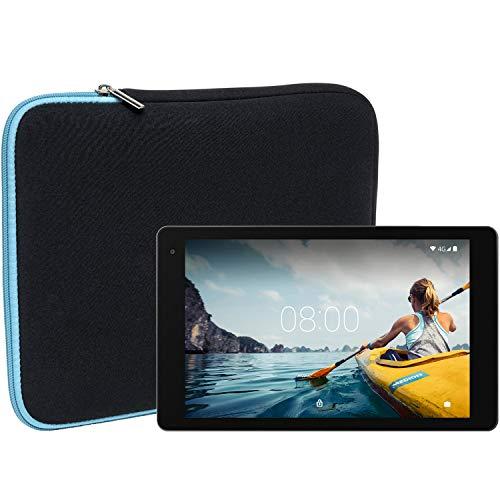 Slabo Tablet Tasche Schutzhülle für Medion Lifetab P10612 (MD61224) Hülle Etui Case Phablet aus Neopren – TÜRKIS/SCHWARZ