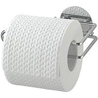 Wenko 18774100 Turbo-Loc Toilettenpapierrollenhalter - Befestigen ohne bohren, Stahl, 14 x 6 x 9 cm, Chrom