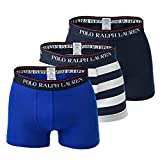 Ralph Lauren Polo Men's Boxer Shorts Pack of 3 - Classic Trunks, Stretch