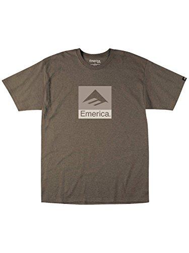 Emerica Combo - T-Shirt Imprimé Logo - Homme Marrón (Brown Heather)