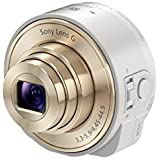 Sony QX10 Lens Style Camera for Smartphones and Tablets- White (18.2MP, 10x Optical Zoom )