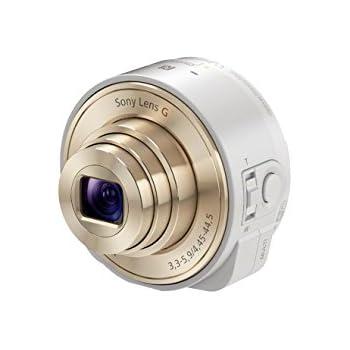 Sony DSC-QX10 SmartShotDigitalkamera (18,2 Megapixel Exmor R CMOS Sensor, NFC, HD Videoaufnahme) inkl. Sony G Weitwinkel-Objektiv mit 10x opt. Zoom weiß