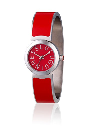 lulu-guinness-lulu-guinness-red-bangle-watch-womens-quartz-watch-with-red-dial-analogue-display-and-