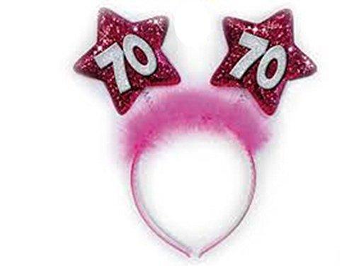 Diadema 70años estrellas Fucsia Gadget idea regalo