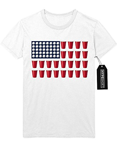 T-Shirt Beer Pong American Flag H989926 Weiß L
