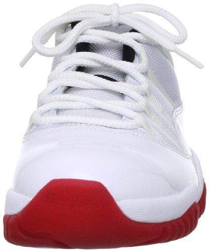 Jordan Air 11 Retro inferiore, Bianco / nero-scuro Concord, 7 M Us white/varsity red-black