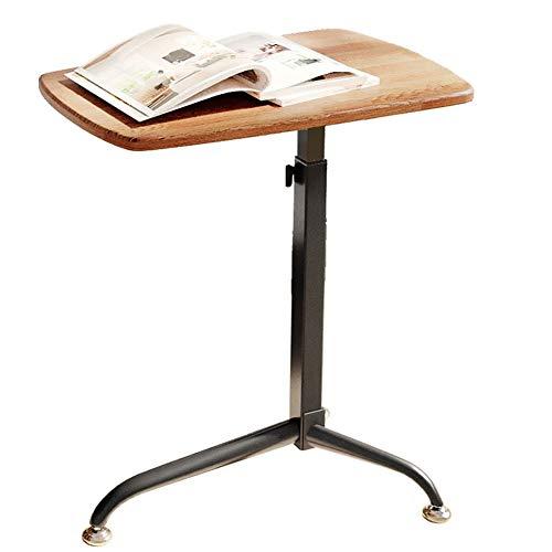 CLEAVE WAVES Höhenverstellbar Nachttisch Laptop Schreibtischwagen Einzelne Kurbel Stehpult Sofa Beistelltisch Laptop Schreibtischwagen Eiche -
