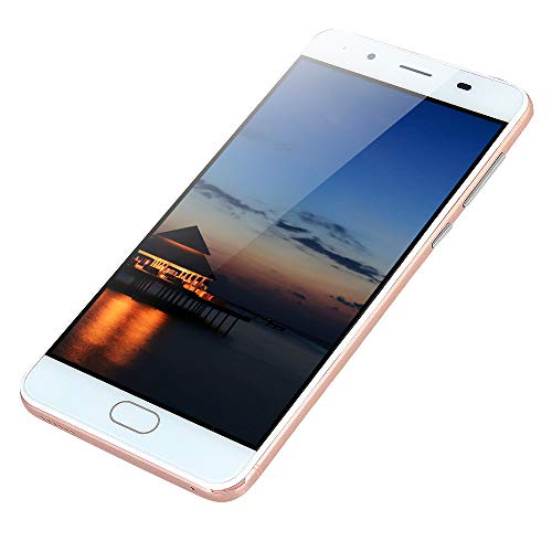 "Smartphone 5,0""Ultradünne Android5.1 Quad-Core 512 MB + 512 MB GSM WiFi Dual-SIM-Dual-Kamera intelligentes Mobiltelefon (Gold Rosa)"