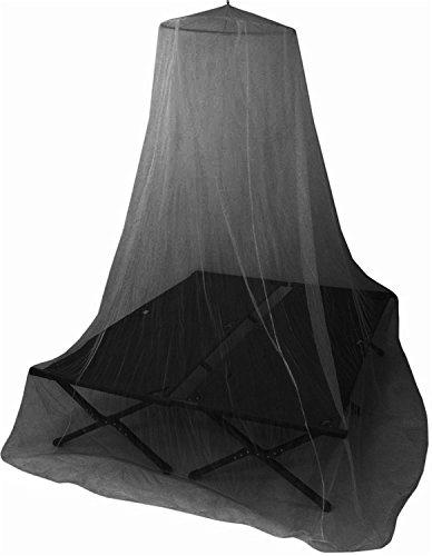 normani Moskitonetz Fliegennetz für Einzel- und Doppelbetten mit Popup Ring Farbe Black
