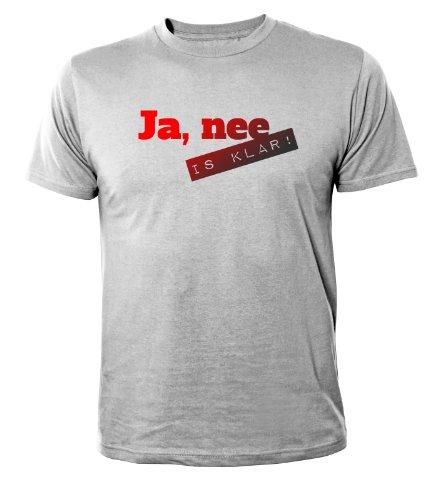 Mister Merchandise Cooles Herren T-Shirt Ja, nee is klar , Größe: L, Farbe: Grau (Star Wars-jugend-t-shirt)