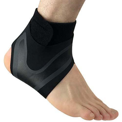 Winkey Elastische Fußbandage,Einstellbare elastische Knöchelmanschette Elastische Knöchelbandage Schutz Fußstütze Sport,und ist für Fitness (Schwarz B, S)