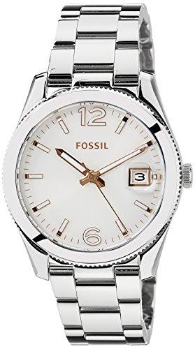 Fossil ES3728 – Reloj , correa de acero inoxidable color plateado
