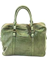49ccc05076c19 BZNA Berlin Sofia grün verde Vintage Business Aktentasche Handtasche  Damentasche Herrentasche Echt Leder Ledertasche Handtasche Bag