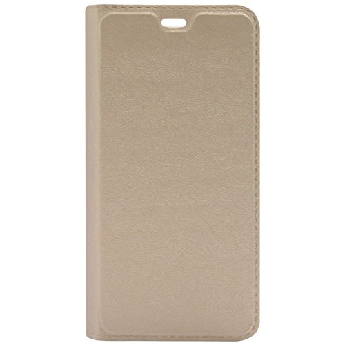 Gionee P5L Leather Flip Case Cover – Golden