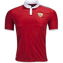 20162017Sevilla FC Vicente Iborra Daniel Carrico Nicolas pareja Away fútbol fútbol Jersey en rojo, hombre, rojo, mediano