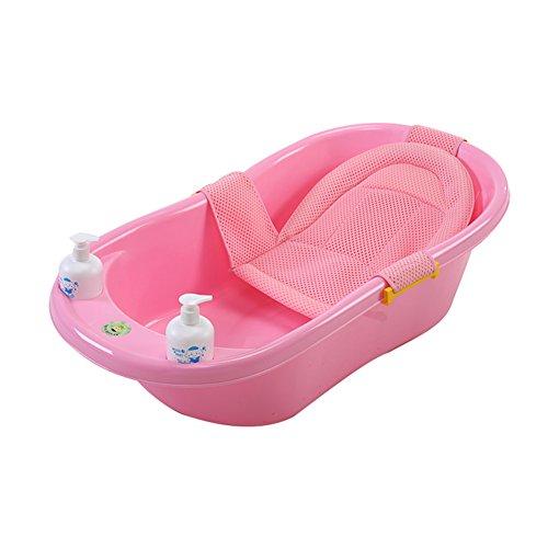 Children's tub Babywanne, Neugeborene Zubehör, Babywanne Kann Sitzen, Universal Große Dicke Kind Kind Badewanne Fass, Nanayaya (Farbe : Pink)