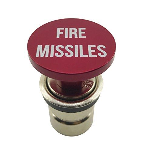 Fire Raketen Button Auto Zigarettenanzünder von Zitadelle schwarz–eloxiert Aluminium, 12Ersatz Zubehör, für die meisten Fahrzeuge, Sockel Größe A