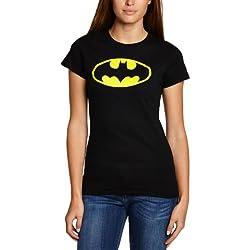 Collectors Mine - Camiseta de Batman con cuello redondo de manga corta para mujer, talla 40, color negro
