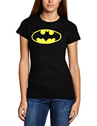 DC Women's Batman Logo Crew Neck Short Sleeve T-Shirt