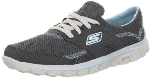 Skechers Go Walk 2Stance, Running Entrainement Femme Gris (Ccbl)