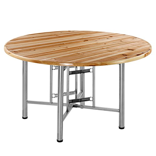 SHELFDQ Klapptisch Großer runder Esstisch für Zuhause Essbarer Tisch Kleine Wohnung Einfache Tischplatte aus Massivholz Modern (Kleiner Tisch Groß Runder)