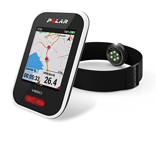 Polar V650 OH1 - Ciclocomputador con GPS y sensor de Frecuencia Cardíaca OH1.  Mapas y seguimiento de rutas - Strava live segments - Luz frontal -  Compatible con potenciometros BT