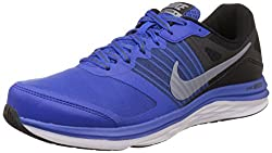 Nike Mens Dual Fusion X Msl Game Royal, Metallic Cool Grey, Black and White Running Shoes -8 UK/India (42.5 EU)(9 US)