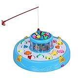 xinxun Magnete Angelspiel, Elektronisches Fischen-Spielzeug 2-Schicht-Teich Pädagogischen Drehende,...