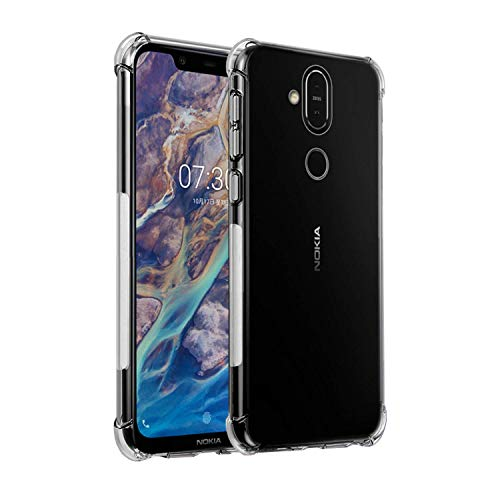 NewLike Perfect Fitting Hybrid [Bumper] Edge to Edge Side Protection Transparent Back Cover for Nokia 8.1