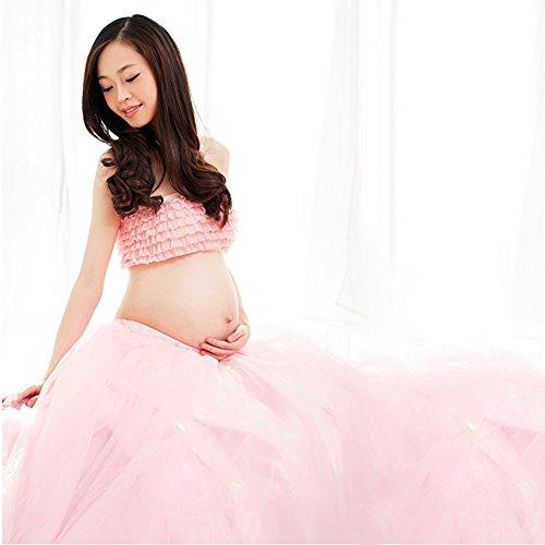 Pueri Mutterschaft Kleid Sexy Schwangere Frauen Fotografie Rock (Rosa)