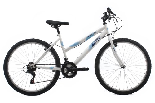 Raleigh Women's Activ Flyte II Rigid Mountain Bike - White, 17 Inch