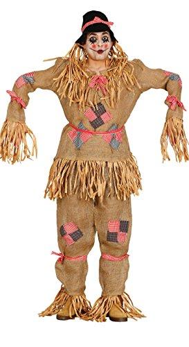 Guirca–Kostüm Erwachsene Vogelscheuche, Größe 52–54(80208.0)