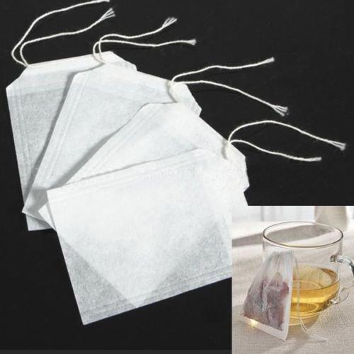 Seguryy 100 pcs Vakuum - tasche Filter teekanne tee wegwerf - Weiße tasche vlies (5,5 × 6 cm)
